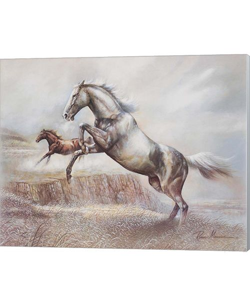 Metaverse Wild Horses Ii By Ruane Manning Canvas Art