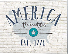 America Brick By Jo Moulton Canvas Art