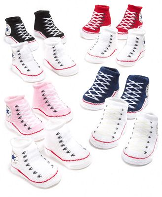 Converse Baby Socks Baby Boys or Girls Booties Two Pack