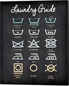 Laundry Guide By Jo Moulton Canvas Art