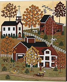 Autumn Drive By Medana Gabbard Canvas Art