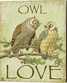 Owl Love by Jean Plout Canvas Art