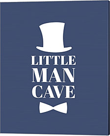 Little Man Cave Top Hat and Bow Tie - Blue by Color Me Happy Canvas Art