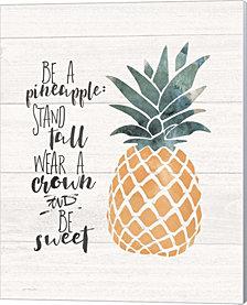Be A Pineapple By Jo Moulton Canvas Art