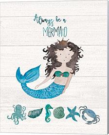 Be A Mermaid by Jo Moulton Canvas Art