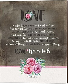 Love Is Patient By Tammy Apple Canvas Art