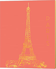 Paris on Coral by Nick Biscardi Canvas Art