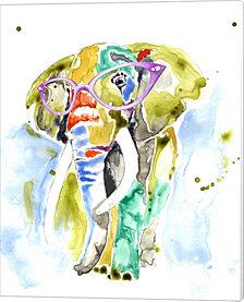 Smarty-Pants Elephant by Jennifer Goldberger Canvas Art