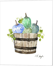 Pumpkin Barrel by Elise Engh Canvas Art