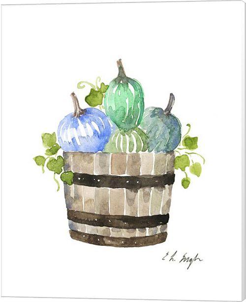 Metaverse Pumpkin Barrel By Elise Engh Canvas Art