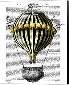 Baroque Fantasy Balloon 2 by Fab Funky Canvas Art