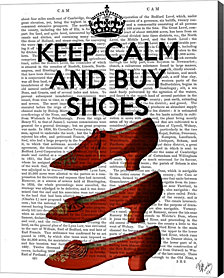 Keep Calm Buy Shoes by Fab Funky Canvas Art