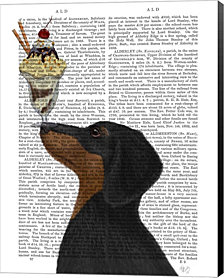 Dachshund, Black and Tan, Ice Cream by Fab Funky Canvas Art