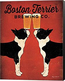 Boston Terrier Brewing Co. by Ryan Fowler Canvas Art