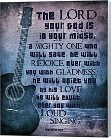 Zephaniah 3:17 The Lord Your God (Guitar) by Inspire Me Canvas Art