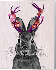 Jackalope with Pink Antlers by Fab Funky Canvas Art
