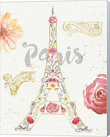 Paris Blooms I by Jess Aiken Canvas Art