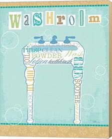 Bathroom Words Sink Ii By Pela Studio Canvas Art