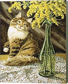 Golden Girl by Jan Benz Canvas Art