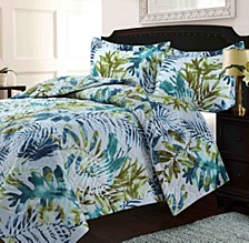 Lyon Microfiber Tropical Rainforest Printed Oversized King Quilt Set