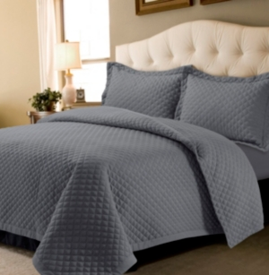 Brisbane Microfiber Solid Oversized King Quilt Set