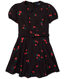 Polo Ralph Lauren Little Girls Cherry-Print Dress