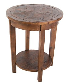 Alaterre Furniture Revive - Reclaimed Round End Table, Natural