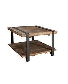 "Modesto 27"" Reclaimed Wood Square Coffee Table"