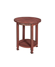 Country Cottage Round End Table