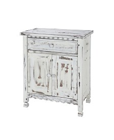 Country Cottage Accent Cabinet, White Antique Finish