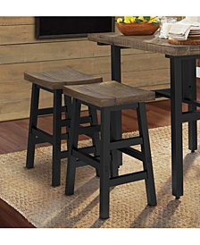 """Pomona - Reclaimed Wood 26"""" Counter Stool with Metal Legs"""