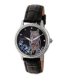 Bertha Quartz Madeline Collection Black Leather Watch 36Mm