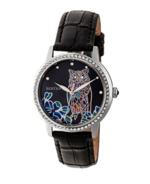 Quartz Madeline Collection Black Leather Watch 36Mm