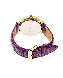 Bertha Quartz Madeline Collection Plum Leather Watch 36Mm