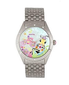 Bertha Quartz Ericka Collection Silver Stainless Steel Watch 38Mm
