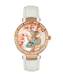 Bertha Quartz Mia Collection White Leather Watch 38Mm