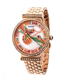 Bertha Quartz Emily Collection Rose Gold Stainless Steel Watch 37Mm