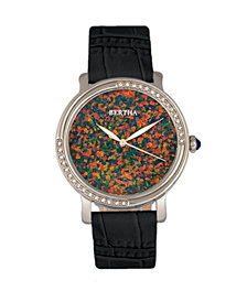 Bertha Quartz Courtney Collection Black Leather Watch 37Mm