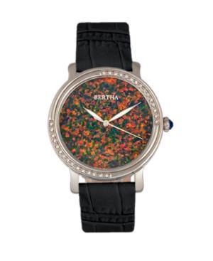 Quartz Courtney Collection Black Leather Watch 37Mm