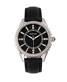 Quartz Clara Collection Black Leather Watch 39Mm