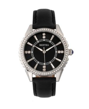 Quartz Clara Collection Black Leather Watch 39Mm