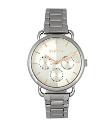 Bertha Quartz Gwen Collection Silver Stainless Steel Watch 36Mm