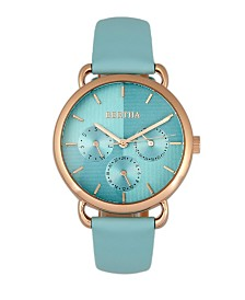 Bertha Quartz Gwen Collection Seafoam Leather Watch 36Mm