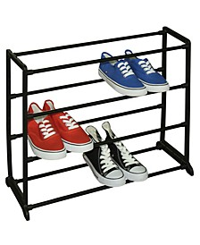 12 Pair Plastic and Metal Shoe Rack