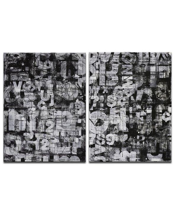 "Ready2HangArt 'Street Smart  I/II' 2 Piece Abstract Canvas Wall Art Set, 40x30"""
