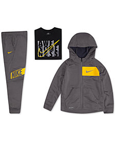 Nike Toddler Boys Zip-Up Hoodie, Awesome-Print T-Shirt & Logo-Print Jogger Pants