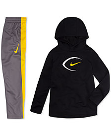 Nike Toddler Boys Football-Print Hoodie & Colorblocked Pants