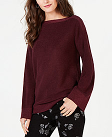 MICHAEL Michael Kors Metallic Flare-Sleeve Sweater