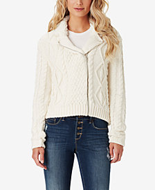 Jessica Simpson Juniors' Vicky Sweater Moto Jacket
