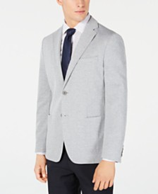 Calvin Klein Men's Slim-Fit Stretch Gray Stripe Knit Sport Coat
